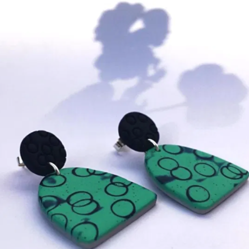 Nadege Honey - Bubble dome earrings