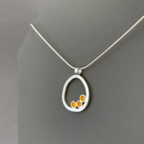 Mini dot circle yellow pendant