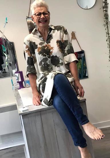Dranella Banue floral pattern shirt dress