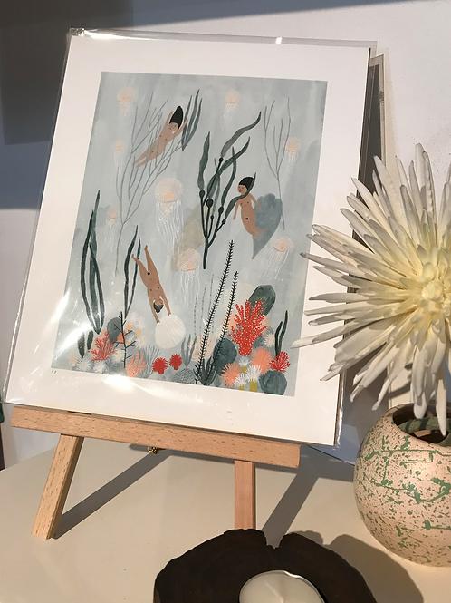 Kate Pugsley art print - 'Sea Maidens'