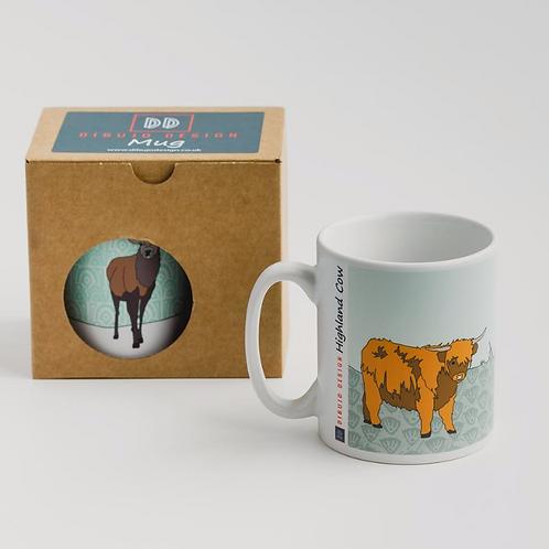 Dibujo design highland cow mug