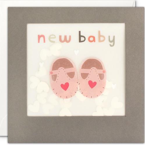 Shakies New Baby girl card