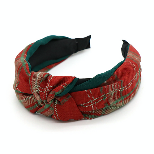 Red tartan hairband