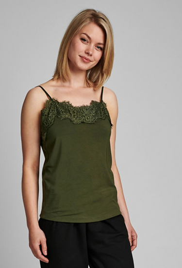 Numph Singlet green camisole