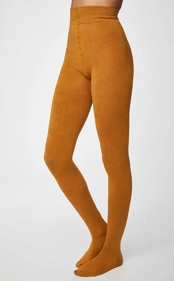 Thought Elgin bamboo tights - saffron yellow