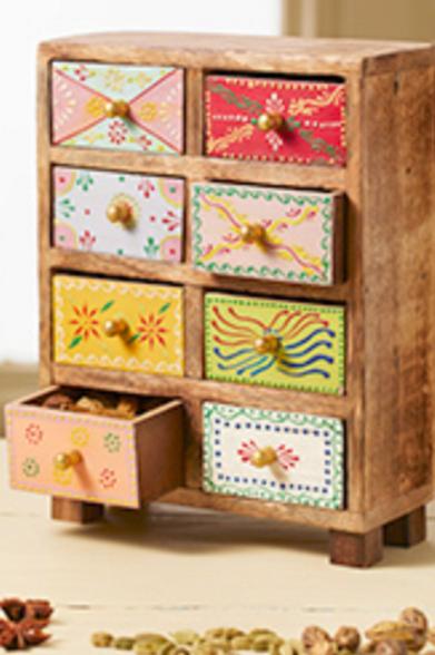 Mango wood 8 drawer chest