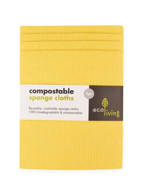 Eco compostable cloth 4 pack