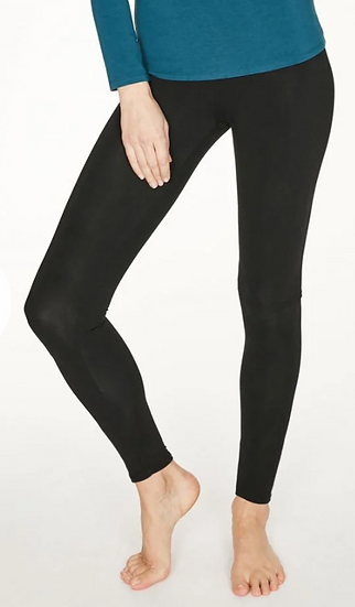Thought organic bamboo cotton thick leggings in black