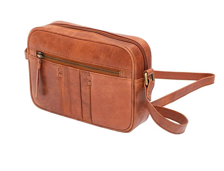 Primehide Arizona leather shoulder bag - Brandy
