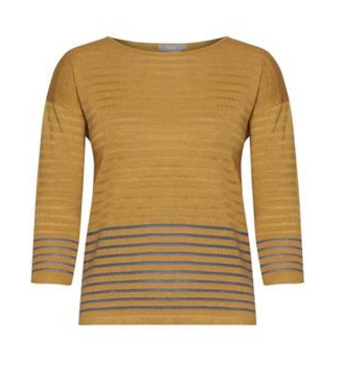 Fransa stripe jumper in harvest gold