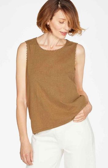 Thought Betta vest top in desert brown