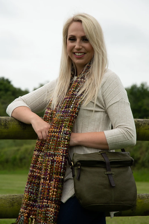 Cool Trade Winds ethically made scarf - Ginger Plum