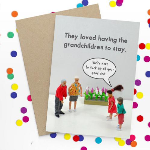 Bold & Bright - grandkids to stay
