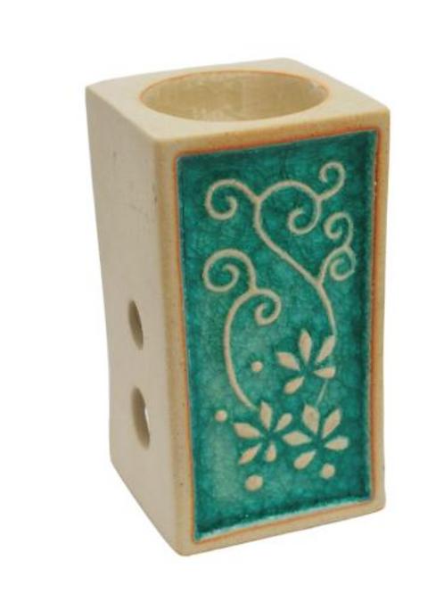 Rectangle burner with floral design