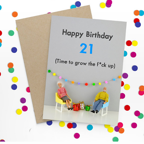 Bold & Bright - Happy 21st Birthday