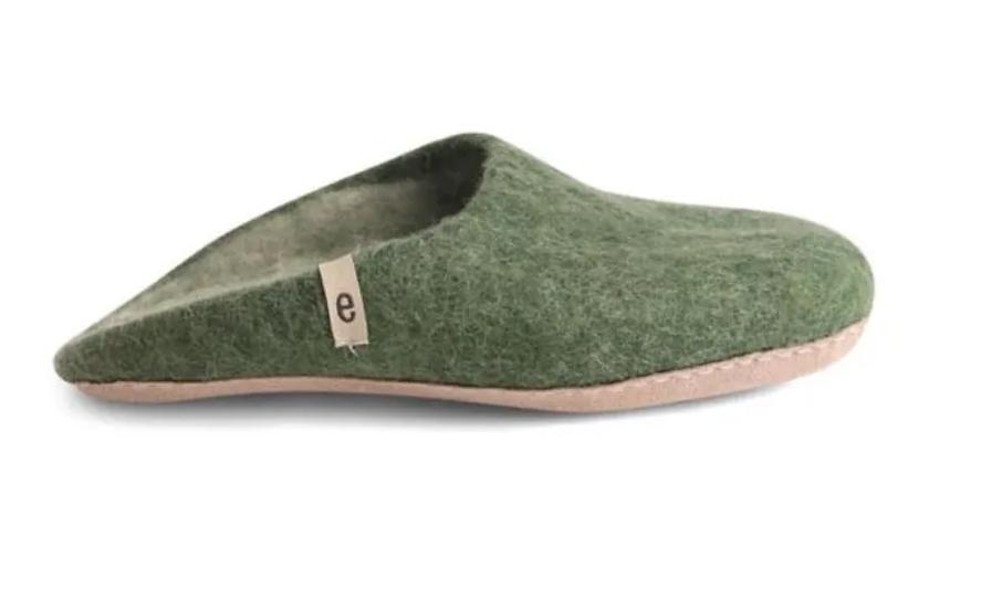 Ego Ethically made felt slippers - green