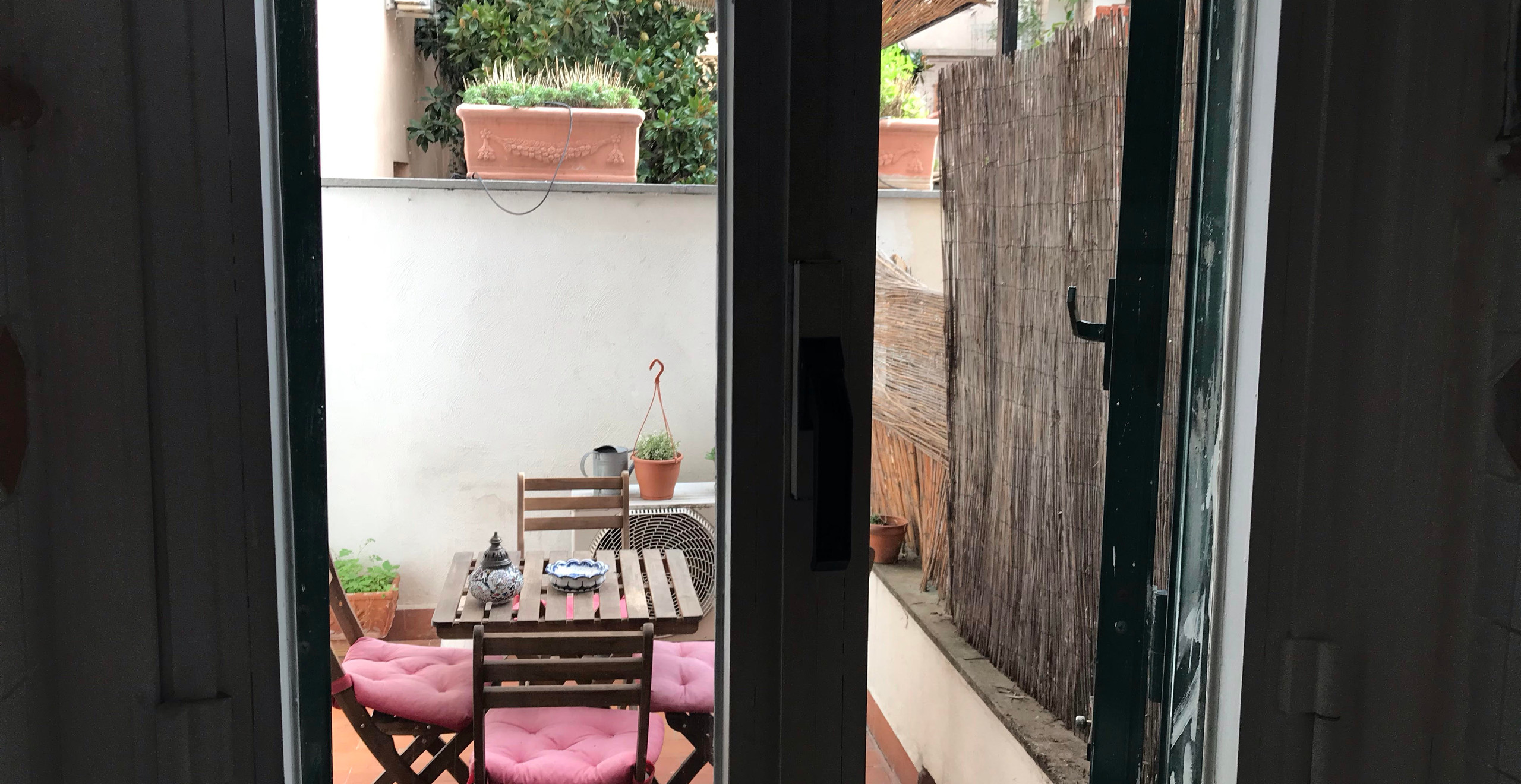 Lively little outdoor space in our Airbnb.