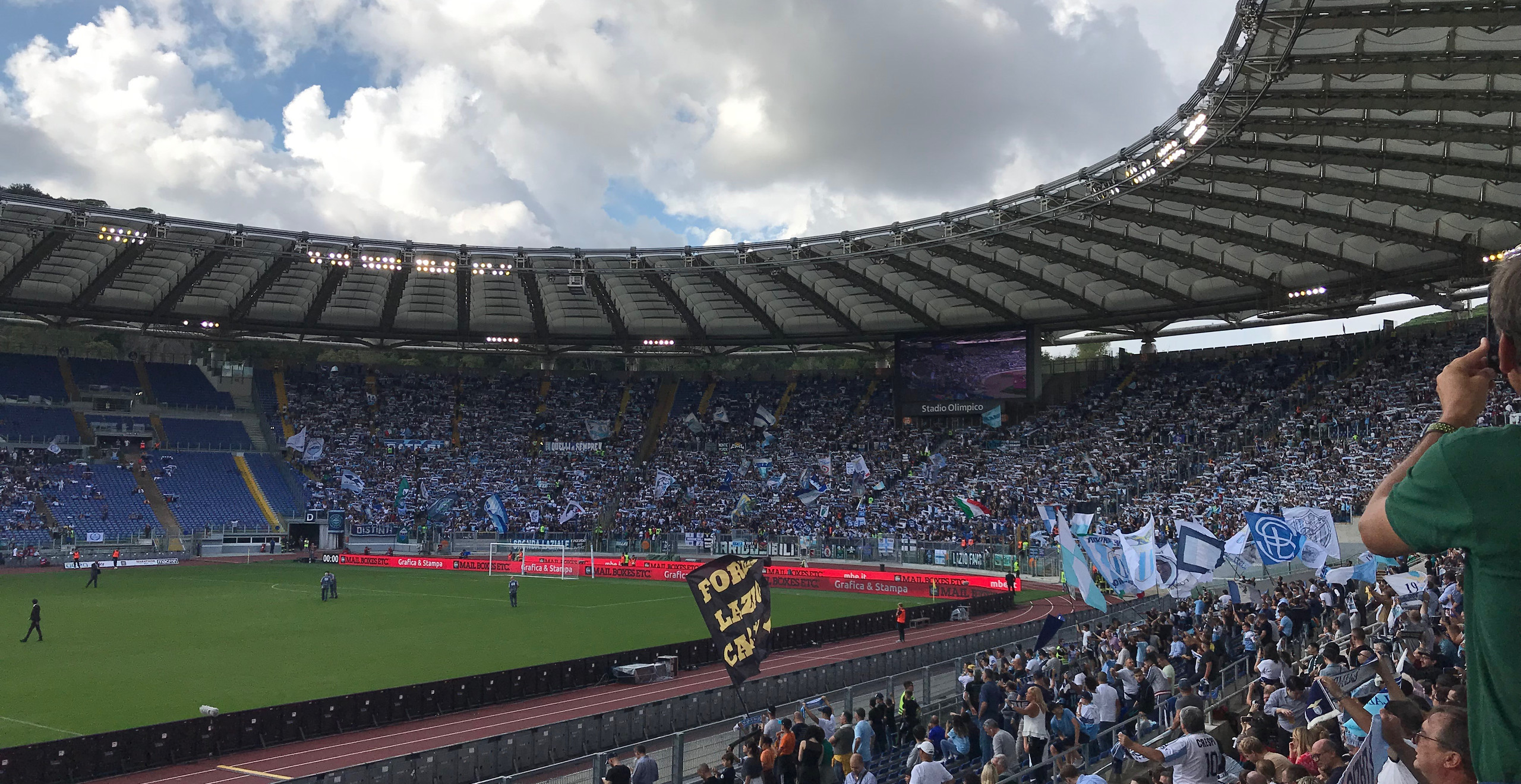Stadio Olympico was filled with flags and vocal fans.