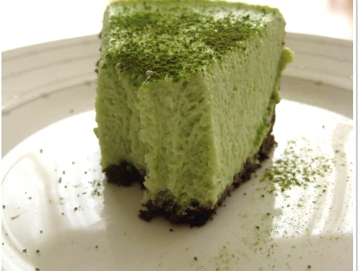 Qi Tea Recipes to try during Lock Down - Matcha Cheesecake Bars