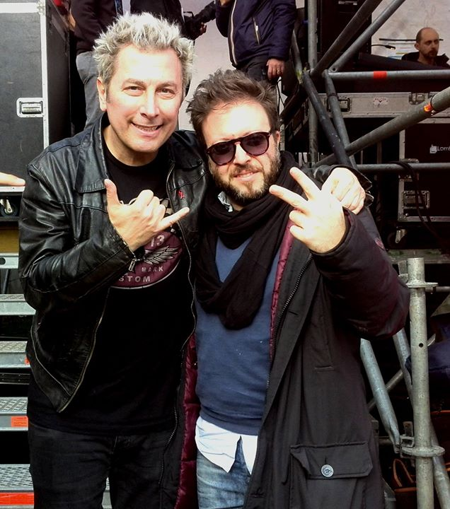 con il mitico Ringo ..