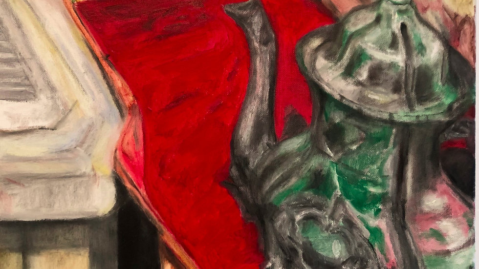 """Red Mat Triptych 2"""