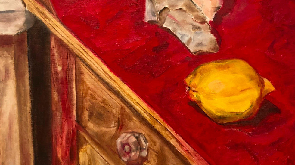 """Red Mat Triptych 1"""