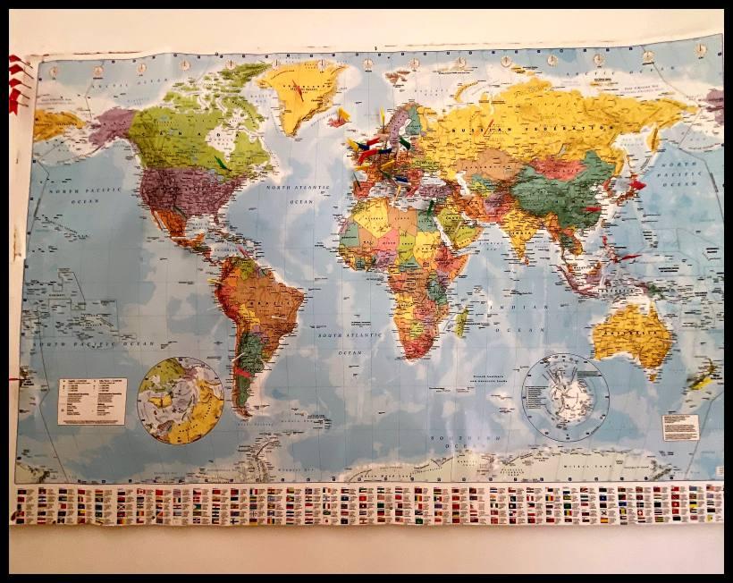 De wereldkaart Waar komen onze gasten va