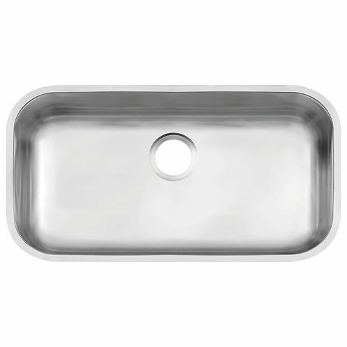 Cuba para Cozinha Retangular Tramontina sem Válvula Aço Inox Acetinado N2 94024