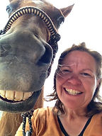 Christy Garavetto and Horse face