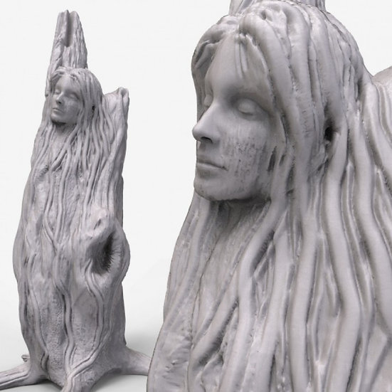 Woman Carved in Tree