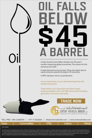 Oil Drop in Price Flier