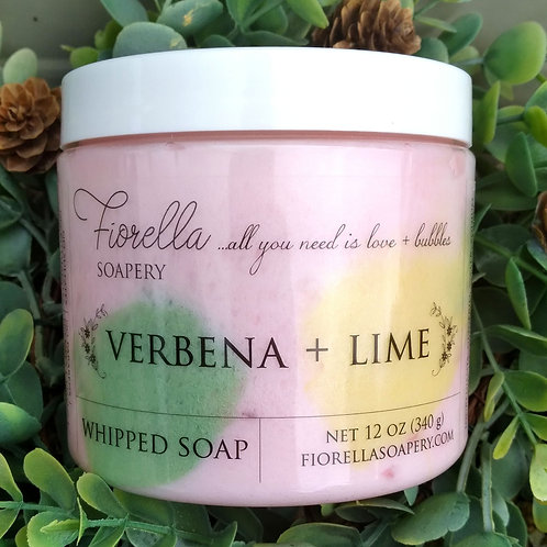 Fiorella Verbena and Lime Whipped Soap