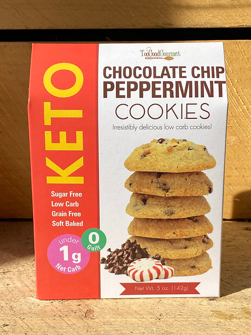 KETO Chocolate Chip Peppermint Cookies