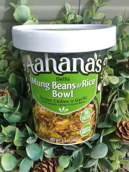 Aahana's Mung Beans and Rice Bowl