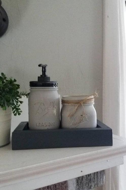 Mason Jar Soap Set
