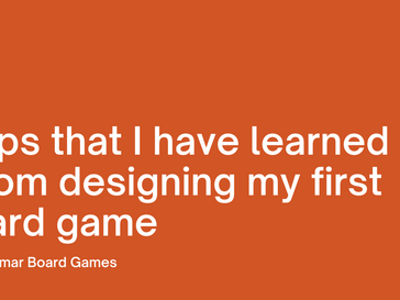 8 Tips that I have learned from designing my first card game