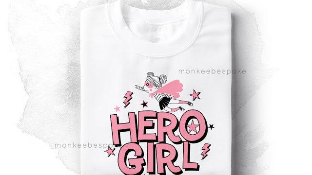 Hero Girl Printed Womens T-shirts in Nerul