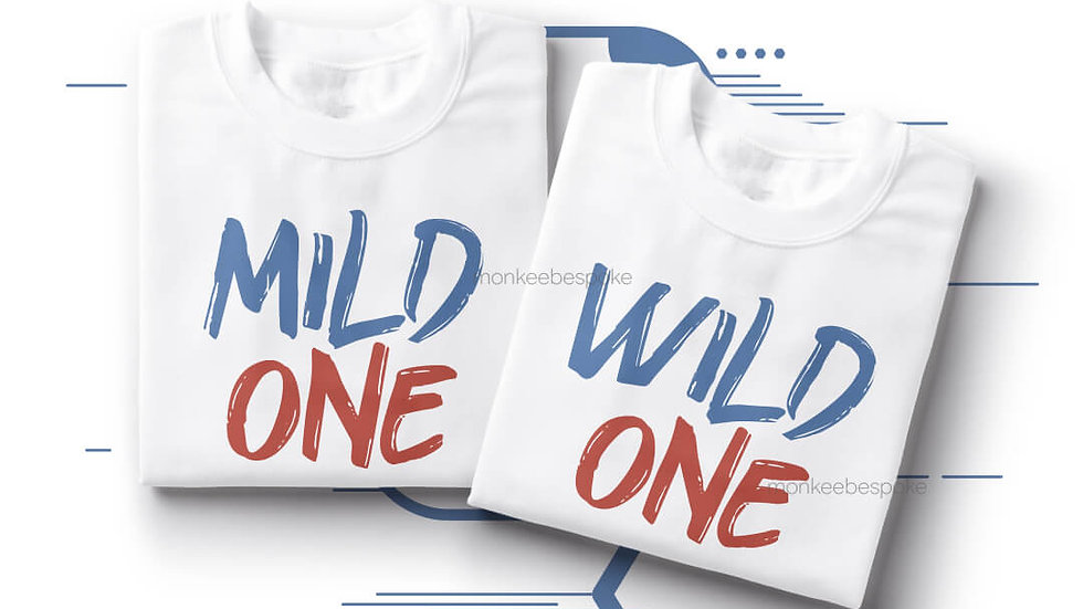 Mild One Wild One Best Friends T-shirts in Navi Mumbai