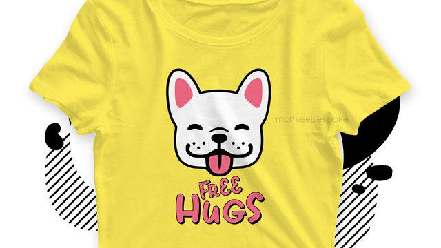 Free Hugs Cute Dog Printed Tops in Navi Mumbai