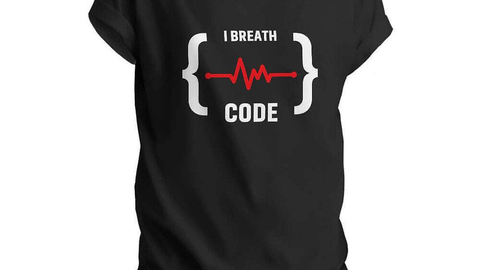 I Breath Code Printed T-shirts in Navi Mumbai