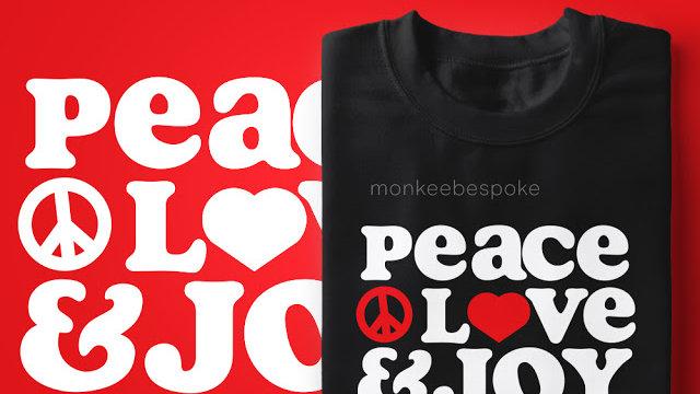 Peace Love Joy Printed T-shirts In Navi Mumbai