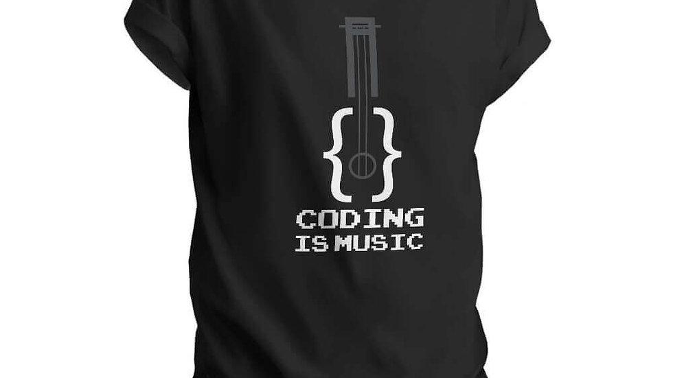 Coding is Music Coder T-shirts in Navi Mumbai