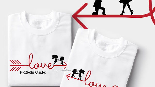 Love Forever Couple T-shirts In Navi Mumbai