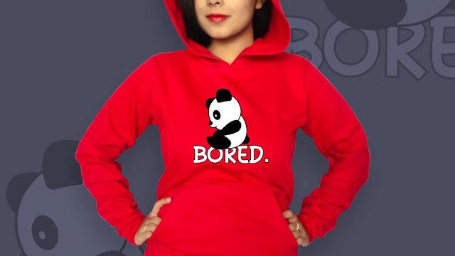 Bored Panda Printed Hoodie In Navi Mumbai