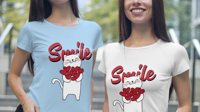 Smile Printed T-shirt In Navi Mumbai