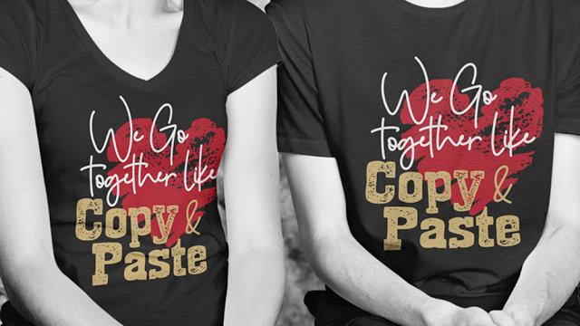 Copy Paste Printed Couple T-shirt in Navi Mumbai