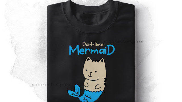 Mermaid Printed T-shirts for Women In Navi Mumbai