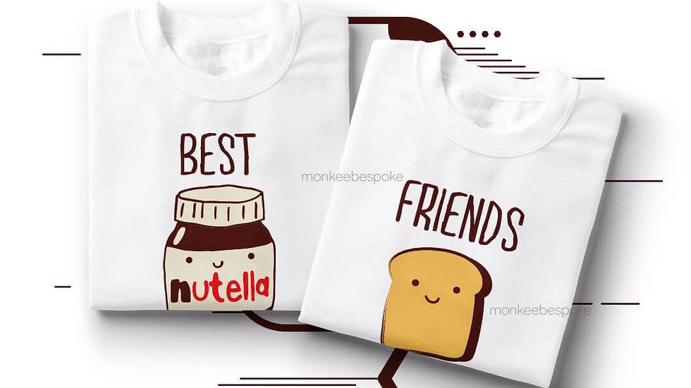 Bread And Nutella Best Friends T-shirts in Navi Mumbai