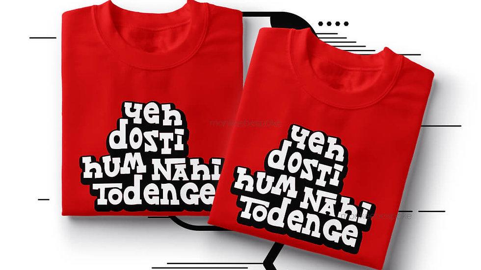 Yeh Dosti Hum Nahi Todenge Best Friends T-shirts in Navi Mumbai