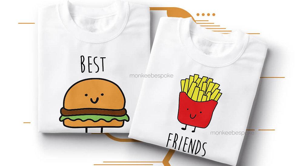 Burger Fries Best Friends T-shirts in Navi Mumbai